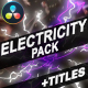 Electricity Elements And Titles | DaVinci Resolve - VideoHive Item for Sale