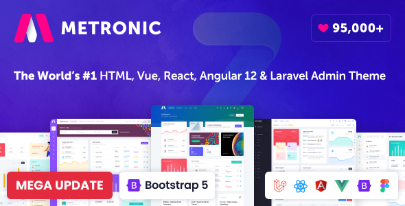 Extraordinary Metronic - Bootstrap 4/5 HTML, VueJS, React, Angular & Laravel Admin Dashboard Theme