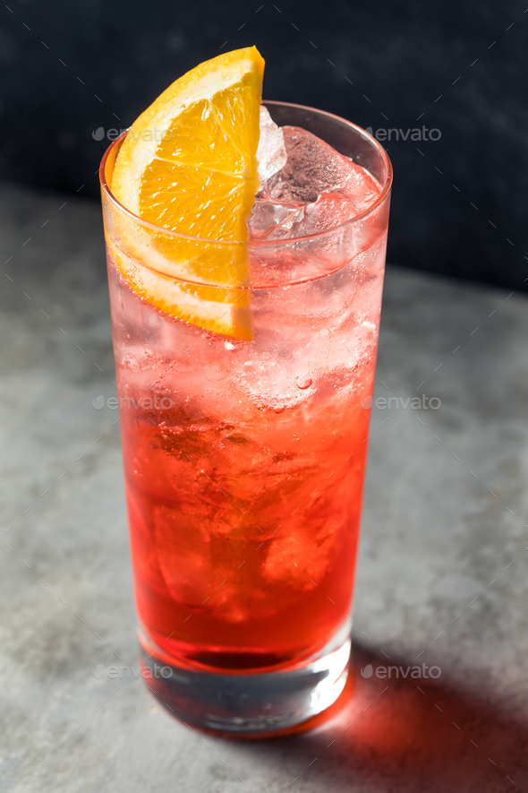 Cold Refreshing Campari Soda Cocktail - Stock Photo - Images