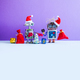 Two Santa robots. New Year Christmas festive poster template - PhotoDune Item for Sale