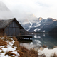 Boat shed in the mountain lake in Austria - PhotoDune Item for Sale