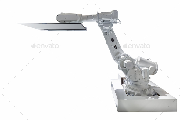 robot arm isolated - Stock Photo - Images