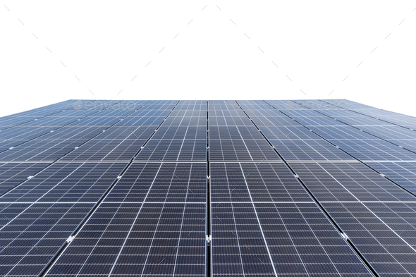 solar panels isolated on white with clipping path - Stock Photo - Images