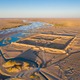 aerial view of the ruins of black water ancient city in sunset - PhotoDune Item for Sale