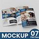 Magazine / Brochure mockup A4