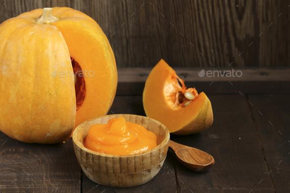 Fresh Pumpkin Puree - Stock Photo - Images