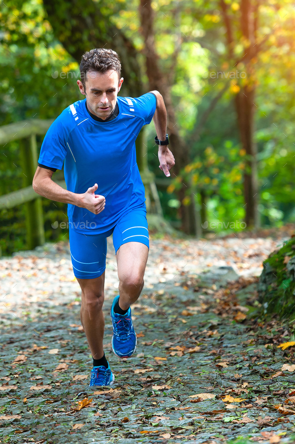 High-mountain running - Stock Photo - Images