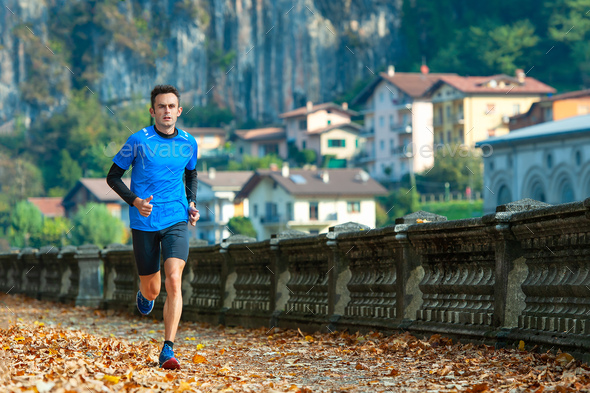 High-level cross-country runner - Stock Photo - Images