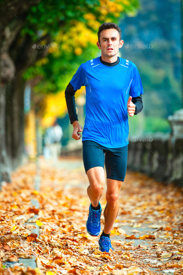High-level cross-country runne - Stock Photo - Images