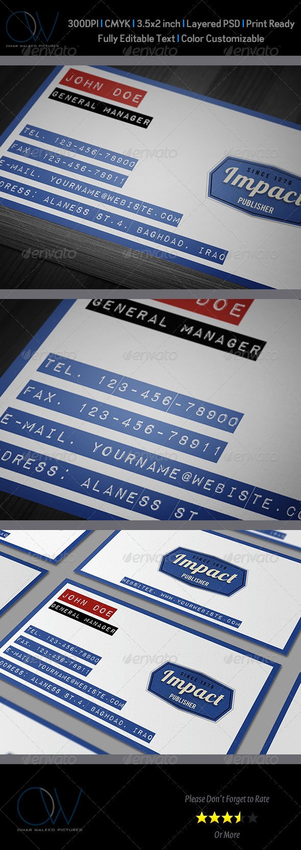 Impact Label Business Card - Retro/Vintage Business Cards