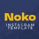 Noko retro Instagram template