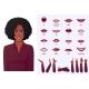 Beautiful African American Black Woman Face