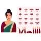 Indian Woman Wearing Sari Character Lipsync