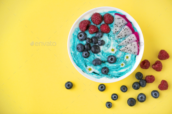 Bowl full of mixed berries - Stock Photo - Images