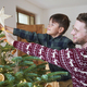 Father and son decorating the Christmas tree - PhotoDune Item for Sale