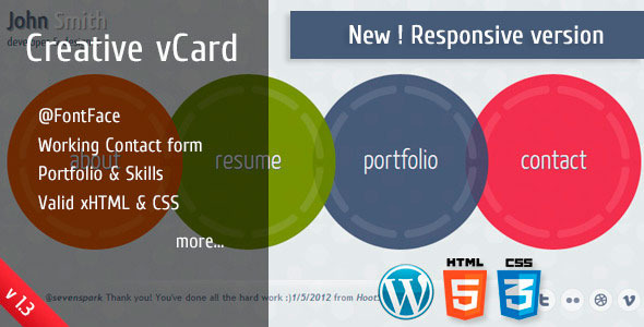 Free Download Circlus - Personal Portfolio &v Card HTML5&CSS3 WP Nulled Latest Version