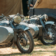 World War II German Wehrmacht Old Tricars, Three-wheeled Motorcycles in Camp - PhotoDune Item for Sale