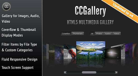CCGallery - HTML5 Multimedia Gallery - CodeCanyon Item for Sale