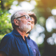 old senior hipster man, happy mature lifestyle with beard, elderly adult male fashion portrait - PhotoDune Item for Sale