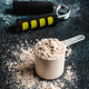 Scoops filled with protein powders for fitness nutrition to start training - PhotoDune Item for Sale