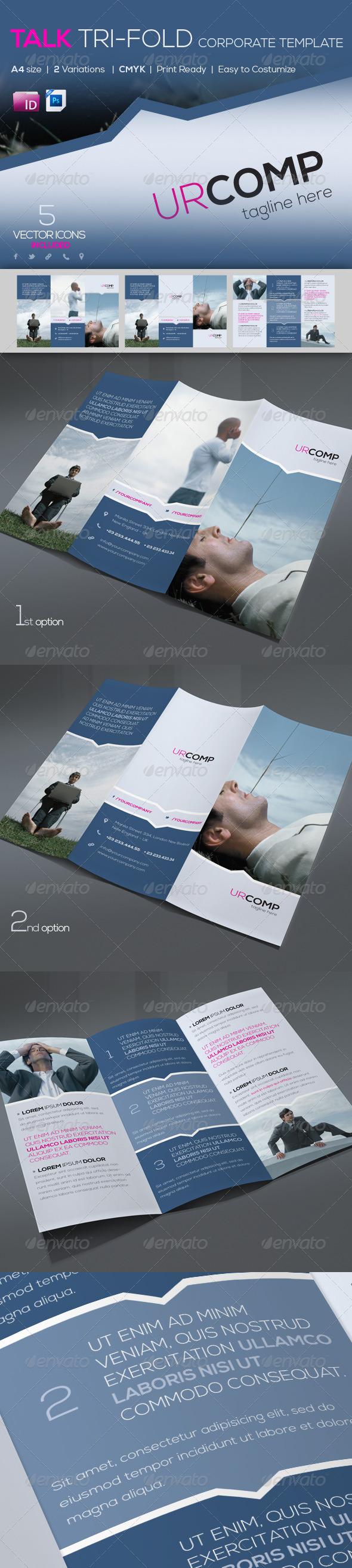 Talk Corporate Trifold Template | A4 - Corporate Brochures