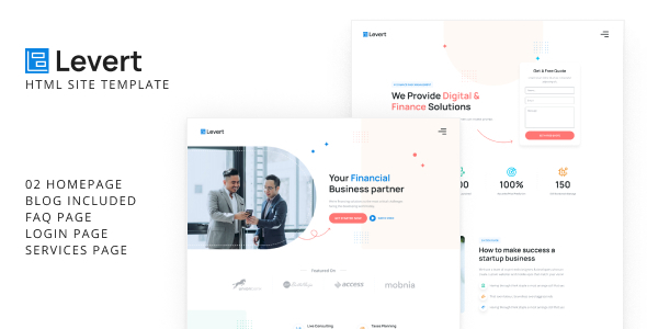 Incredible Levert - Financial Business HTML Site Template