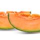 cantaloupe melon slices isolated on white - PhotoDune Item for Sale