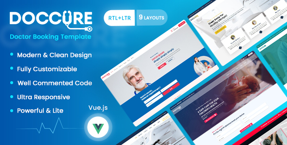 Marvelous Doccure - Doctor Appointment Booking Management Directory System Vuejs Template (Practo Clone)