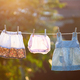 Baby clothes hanging on the rope outdoor. - PhotoDune Item for Sale