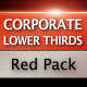 Corporate Lower Thirds Red Pack - VideoHive Item for Sale