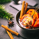 Christmas dessert - flamed tamarillo in hot wine punch with cinnamon and anise - PhotoDune Item for Sale