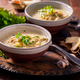 Vegan cabbage soup with oyster mushrooms with vegetables - PhotoDune Item for Sale