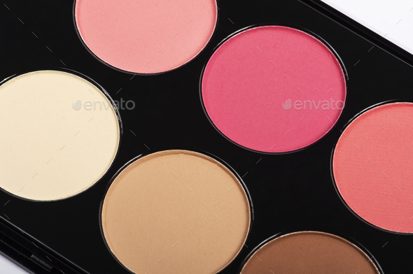 Palette of blusher or eye shadow - Stock Photo - Images