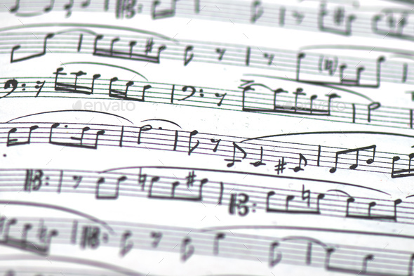 Detail of musical score - Stock Photo - Images