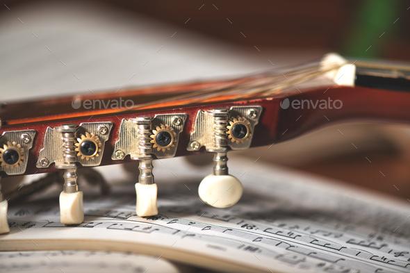 Mandolin tuning keys backed - Stock Photo - Images