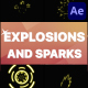 Explosions and Sparks   After Effects - VideoHive Item for Sale