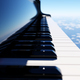 Grand piano keyboard on blue sky - PhotoDune Item for Sale