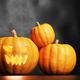 Halloween pumpkin glowing. Jack-o'-lantern - PhotoDune Item for Sale