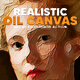 Real Oil Canvas Painting Action