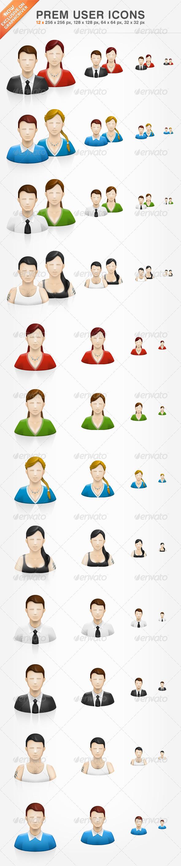 Prem User Icons - Web Icons