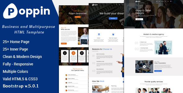 Top Poppin - Business and Multipurpose HTML5 Template