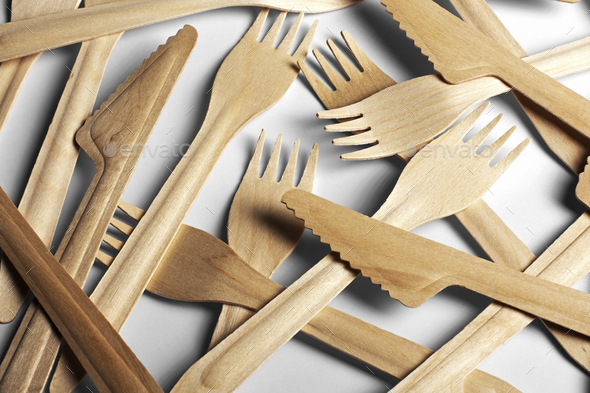 Wooden tableware - Stock Photo - Images