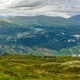 Views of foggy mountains meadows from Molden hike in Norway - PhotoDune Item for Sale