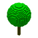 12 Isometric Voxel Low Poly Tree Crown Collection - Big Transparent PNG Files Clipart