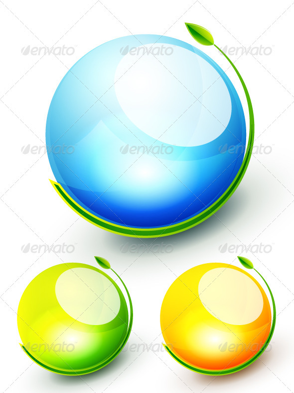 Shiny Nature Spheres - Nature Conceptual