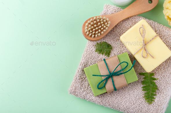 Natural handmade soap - Stock Photo - Images