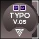 Typography Slide - Clean Landing Intro V.05 | MOGRT - VideoHive Item for Sale