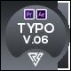 Typography Slide - Abstract Minimal V.06 | MOGRT - VideoHive Item for Sale