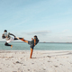 Two fighters practice on the beach - PhotoDune Item for Sale