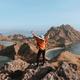 Freedom girl on top mountain - PhotoDune Item for Sale